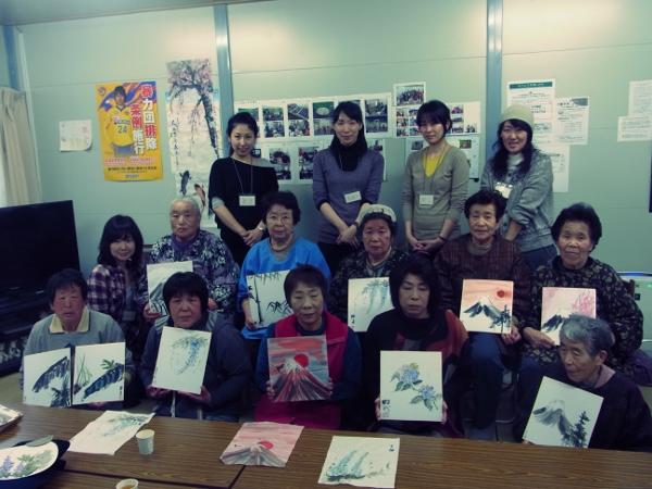 201204 春の水墨画ボランティア 1日目 pm02