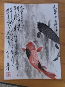 201204 春の水墨画ボランティア RQへ寄贈作品