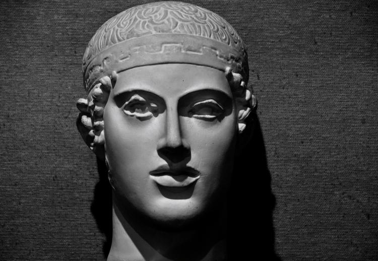 石膏像 御者のマスク-2