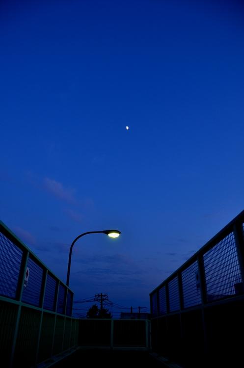 今日の夕陽 跨線橋から-4