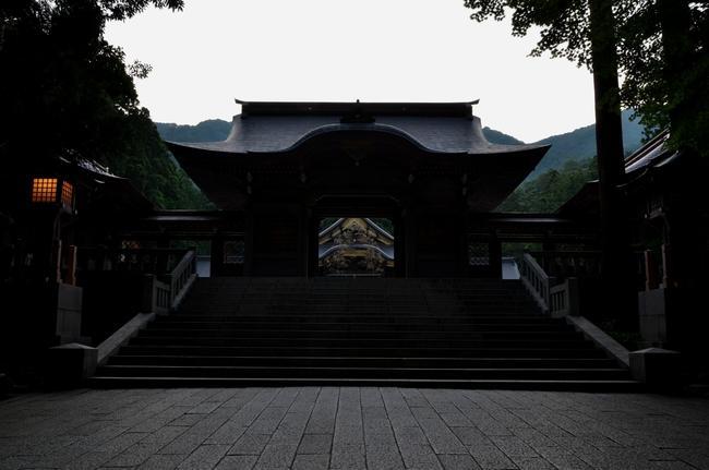 神社 夕闇-2