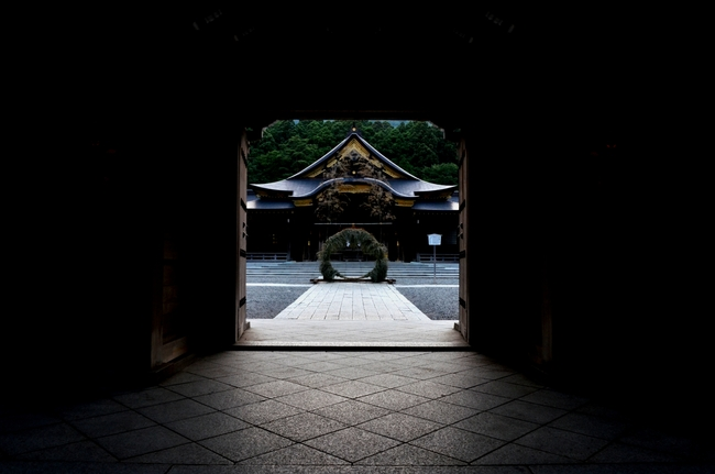 神社 夕闇-3