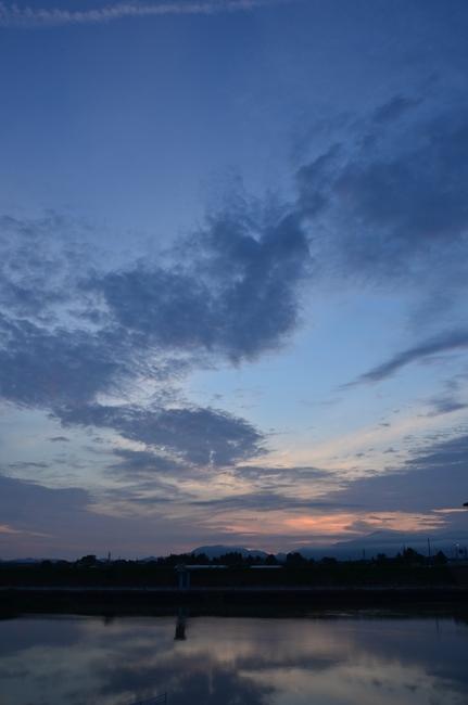 今日の夕陽 3