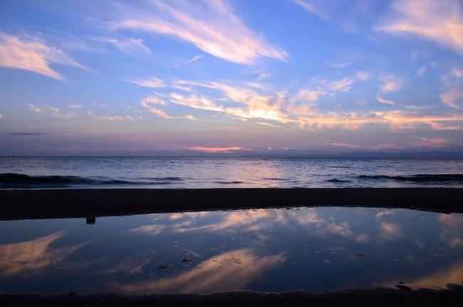 夕陽 海-2