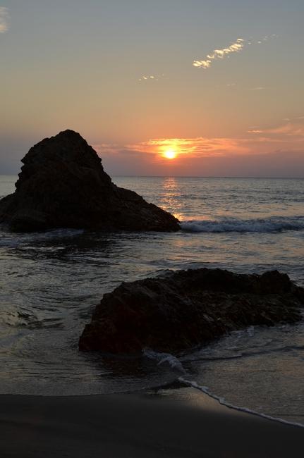 夕陽 海-Ⅱ