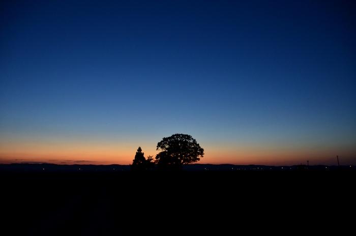 秋晴れの夕暮れ-1