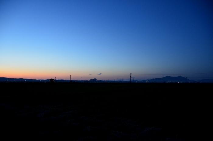 秋晴れの夕暮れ-2