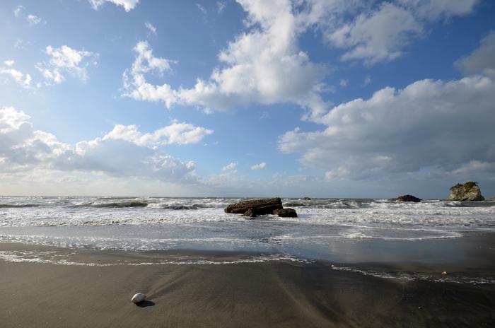 波 砂浜-1