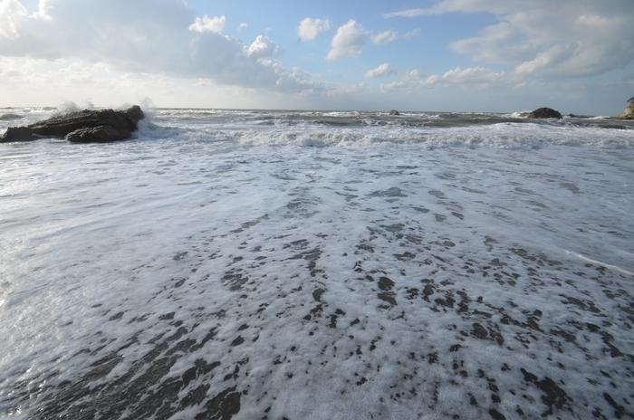 波 砂浜-3