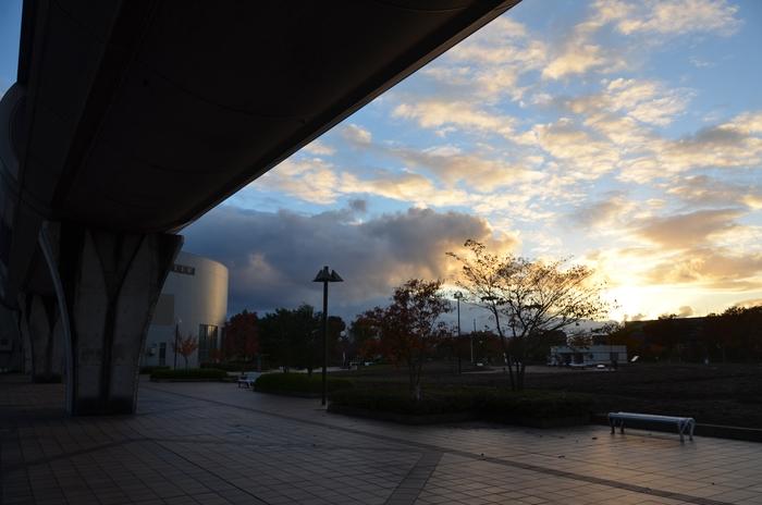 晩秋の夕焼け-3