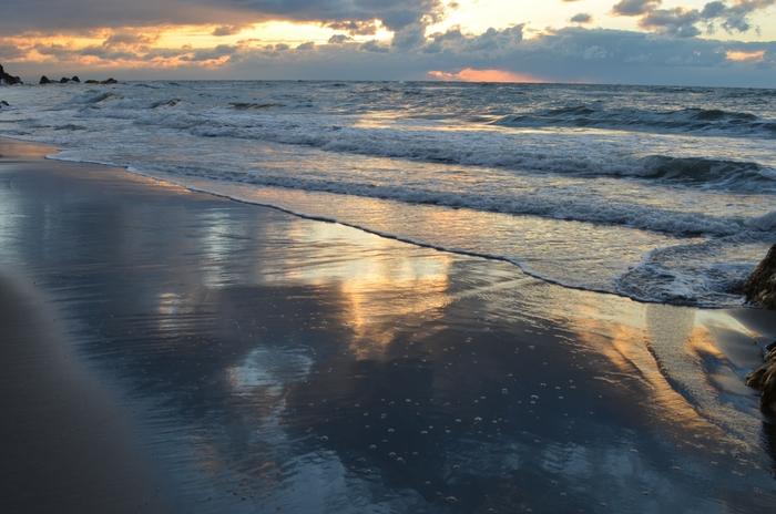 今日の夕暮れ 海-3
