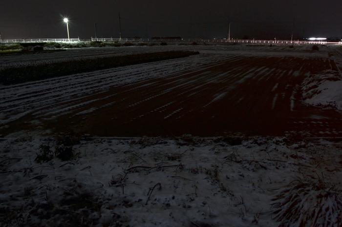 夜の雪-2