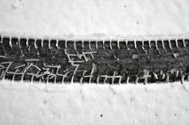 雪道 跡-1