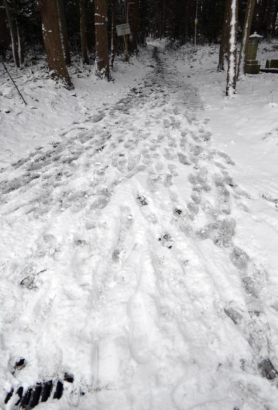 雪道 跡-3