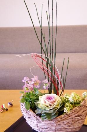 201212モダンカラーのお正月寄せ植えp7