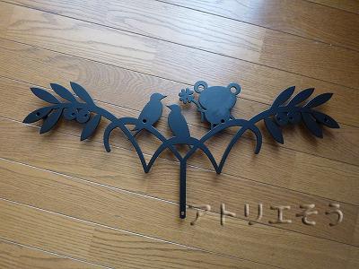 オリーブ+小鳥+カエル妻飾り