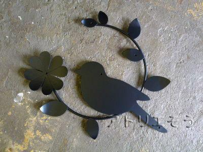 小鳥+クローバー妻飾り