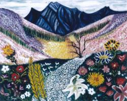 山・花風景
