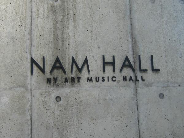 NAM HALL の看板