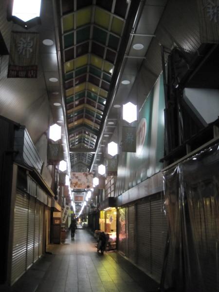 開店前の錦市場