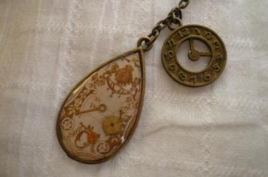 時計キーホルダー2