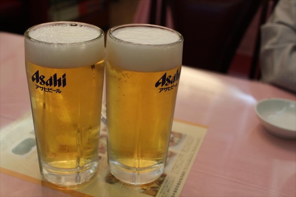 まずは生ビールで