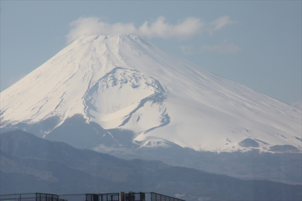 狩野川の河原から見た富士山(2012年3月)