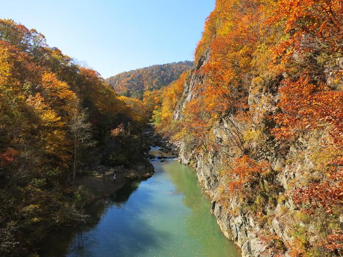 定山渓 2014 紅葉 二見吊橋 かっぱ淵