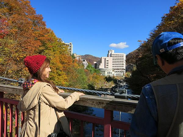 定山渓 2014 紅葉 二見吊橋 撮影