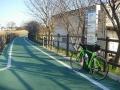 160312秋篠川沿いの自転車道に入る