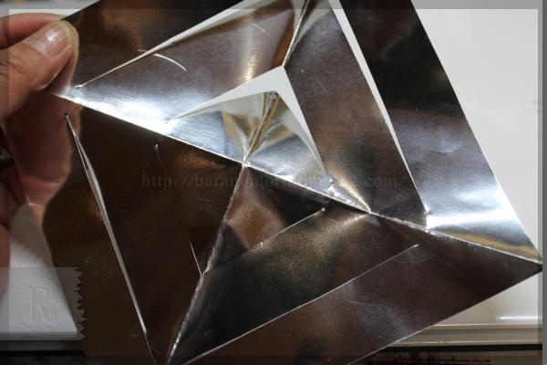 クラフト 工作 DIY 折り紙 雪の結晶 20131220