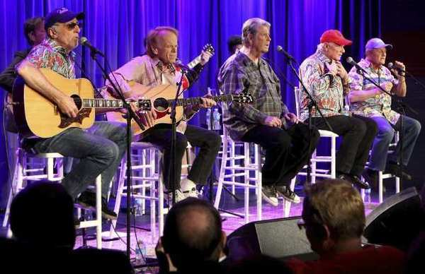 The Beach Boys at the Grammy Museum in Los Angeles. (Becky Sapp / Grammy Museum / September 18, 2012)