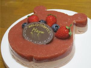 まゆ苺ムース1