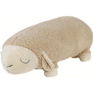 抱き枕 羊のメアリー ロングクッション 90cm ベージュ