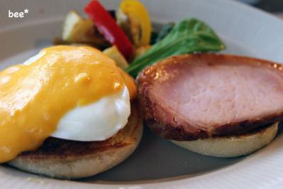 ハンバーグの朝食