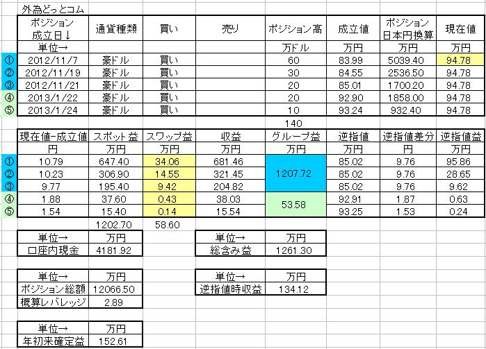 外為ポジション20130126