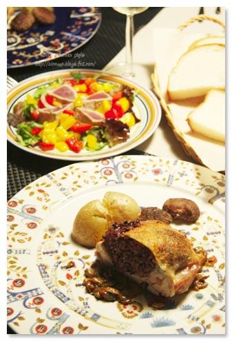 鶏肉の詰め物ポルチーニソース