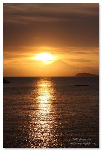 葉山,夕焼け