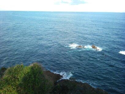 樫野岬灯台からの眺め