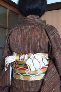 紬と半幅帯