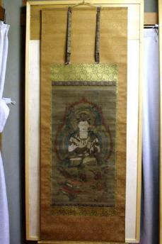 DSC06318岐阜県指定文化財(文殊菩薩像図)