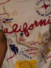 カリフォルニアマップ エンブロイダリーTシャツ