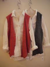 KAPITAL ホワイトパッチワークカトマンズシャツ&ベルギーリネンチマヨニットベスト(メンズ&レディース)