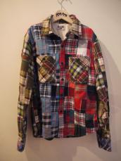 GAIJIN フランネルパッチワークL/Sシャツ