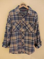 BB インディゴネルチェック レディースL/Sシャツ