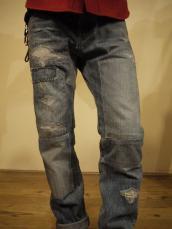 BLUE BLUE PP24 グラデーションパッチジーンズ