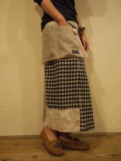 快晴堂 WOOL麻のギンガムスカート