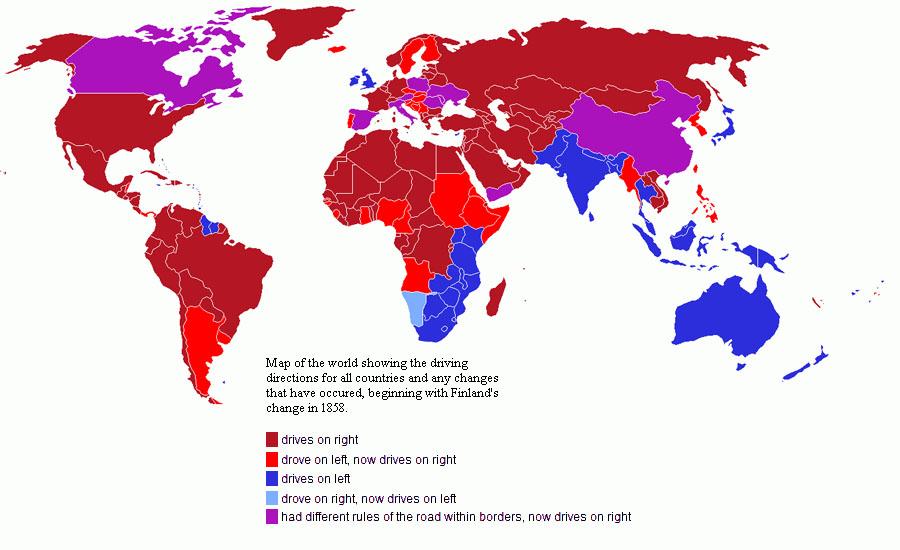 青い国が左側通行s