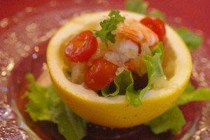 グレープフルーツとエビのマリネサラダ