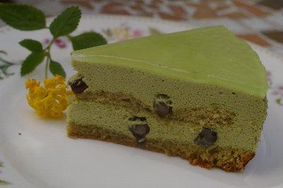 抹茶のムースケーキ2